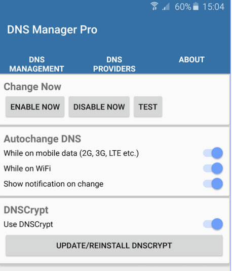 dns-dnscrypt-manager