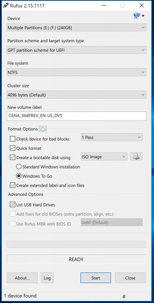 How to install Windows 10 to portable USB drive to use on a Mac